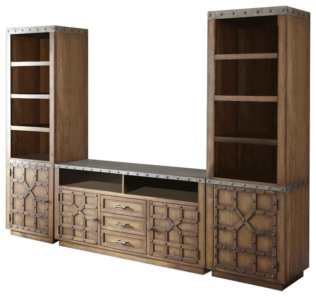 Steve Silver Wayland Entertainment Center in Driftwood - Traditional - Entertainment Centers And ...