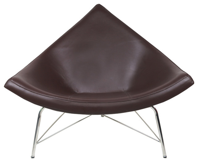 Coconut chair reproduction chocolate 100 italian leather modern seat cushions by ifn modern - Coconut chair reproduction ...