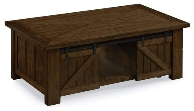 Beau Magnussen Fraser Lift Top Coffee Table With Casters In Rustic Pine