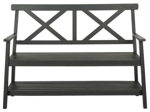Mayer 2-Seat Bench, Black