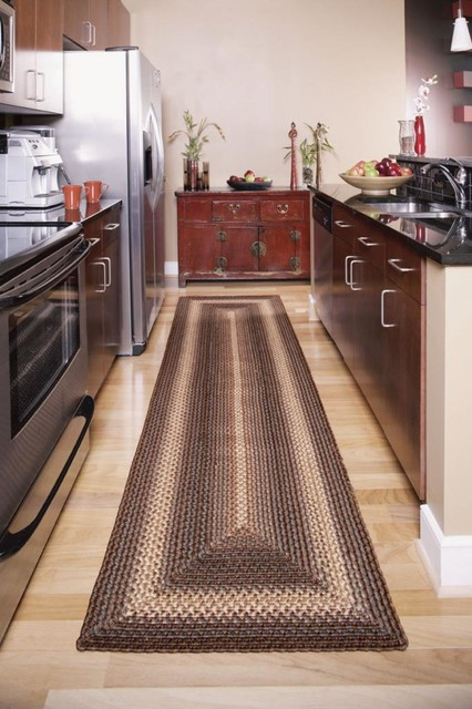 """Homespice Driftwood Indoor/Outdoor Braided Rug, Brown, 1'8""""x2'6"""", Oval"""