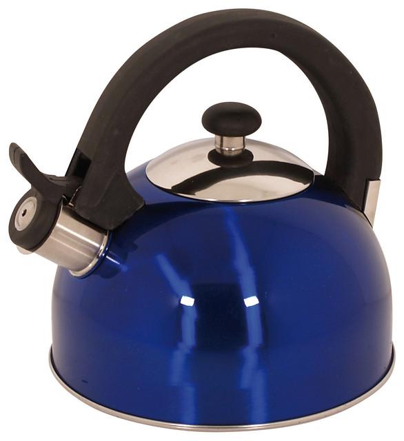 Sabal Stainless Steel 2.1 Qts. Tea Kettle, Blue.