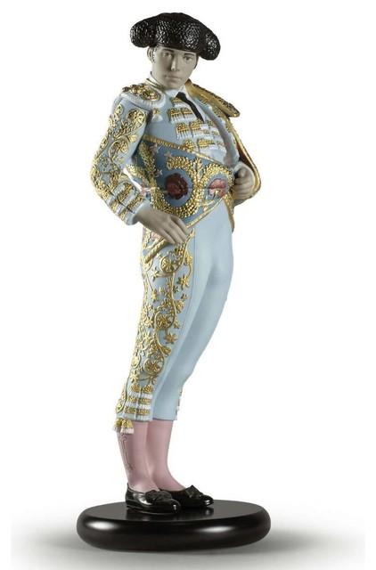 Lladro Bullfighter Figurine Blue Limited Edition 01002013