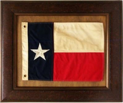 Texas Flag With Grommets Framed Art. -1