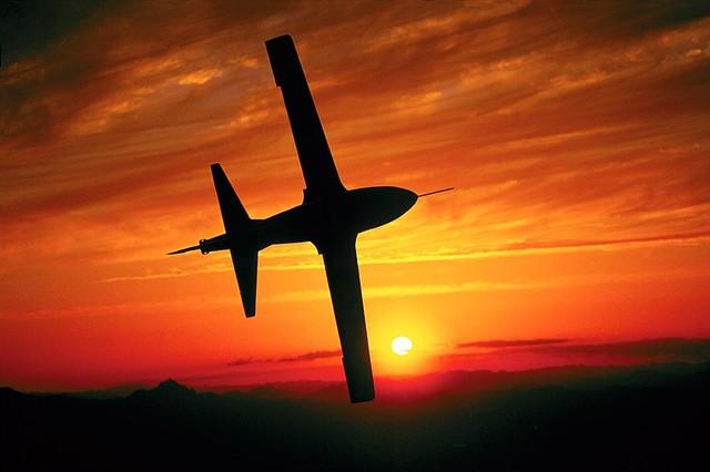 Jet Plane Sunset Silhouette Wallpaper Wall Mural Self Adhesive