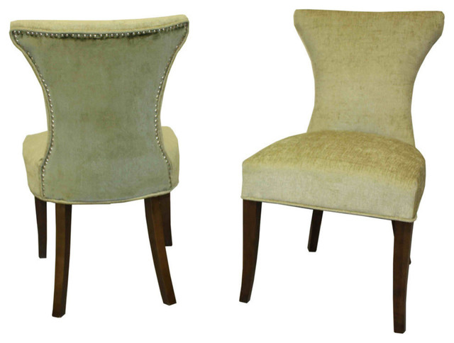 2 pack cosmo 2 tone chenille contemporary armchairs for Furniture 888 formerly green apple