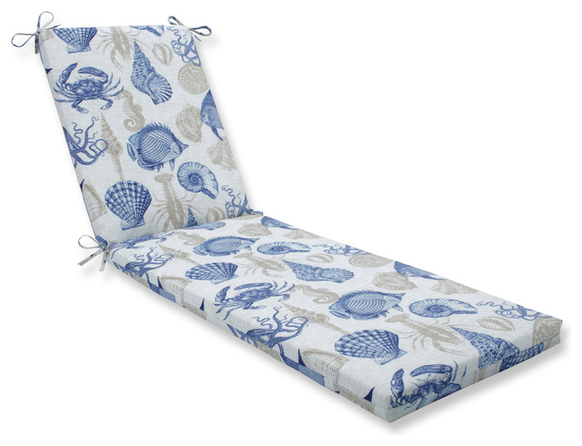 Sealife Marine Oversized Chaise Cushion Beach Style Outdoor Lounges By Pillow Perfect Inc