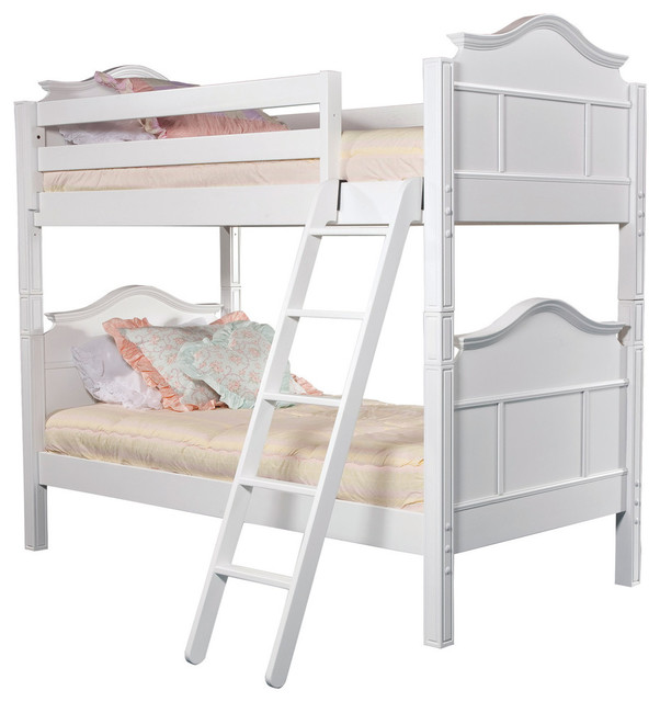 Emma Twin Bunk Bed, White.