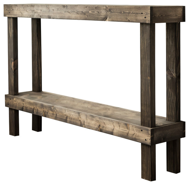 Admirable Rustic Luxe Wooden Sofa Table By Del Hutson Designs Dark Walnut Dark Walnut L Squirreltailoven Fun Painted Chair Ideas Images Squirreltailovenorg
