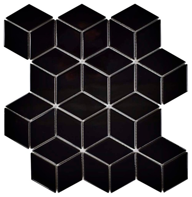 105x121 Diamond Mosaic Floorwall Tile Contemporary Tile