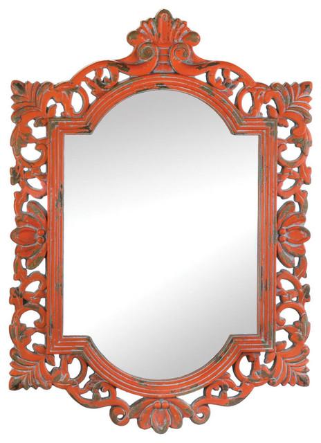 Vintage Emily Coral Mirror. -1