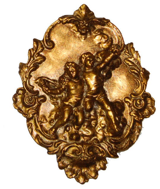 Etienne Gold Cherub Plaque, Right.