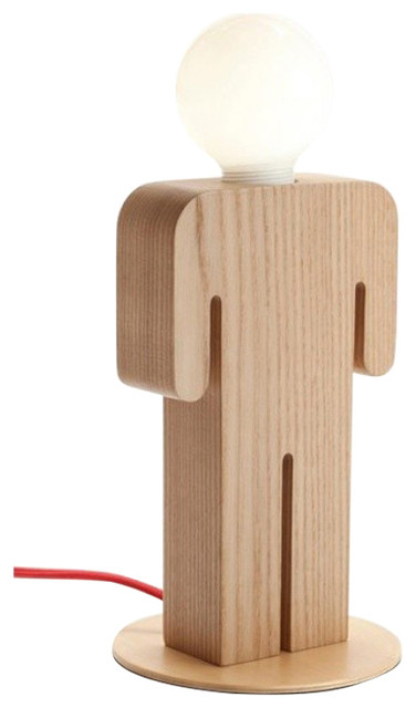 Awesome Wooden Table Lamp Unique Manu0027s Shape Design For Living Room Transitional  Table Lamps