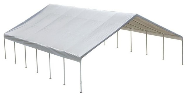 30&x27;x40&x27; Canopy, 2-3/8 Frame, White Cover, Fr Rated.