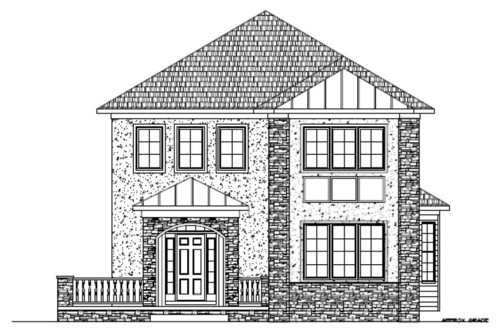Stone Elevation Drawing : Need help with exterior design of this house
