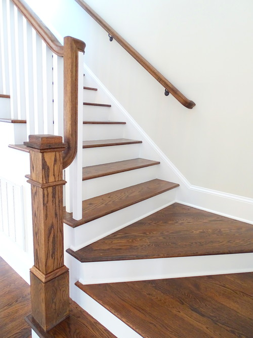 Stairway landing is this a split landing - Home designer stairs with landing ...