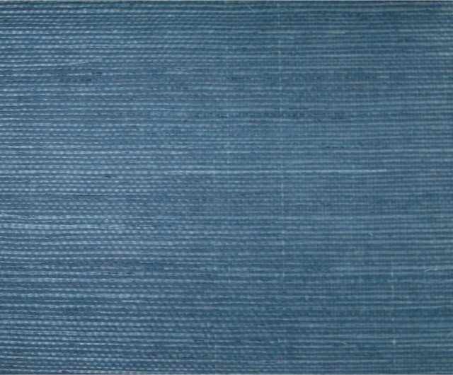 Sisal Twill Blue Grasscloth Wallpaper View In Your