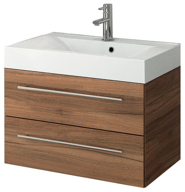 """Concept Design Products Concetto Bath Vanity, Red Walnut, 28"""""""