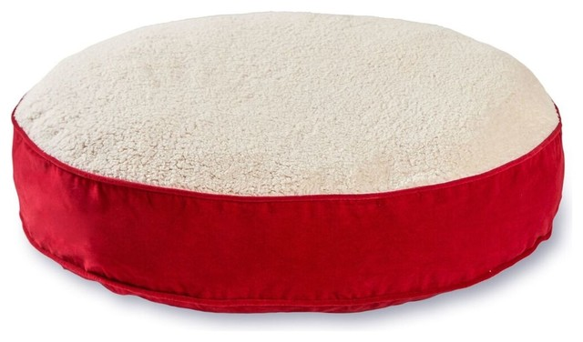 Brilliant Scout Deluxe Round Dog Bed Crimson And Sherpa Extra Small Inzonedesignstudio Interior Chair Design Inzonedesignstudiocom