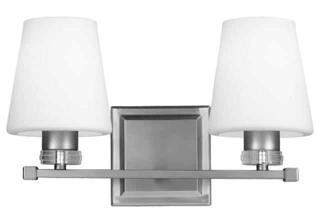 Rouen 2-Light Bathroom Vanity Light in Polished Nickel - Transitional - Bathroom Vanity Lighting ...