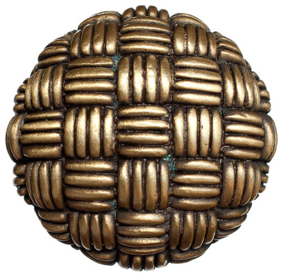 Woven Strands Knob - Traditional - Cabinet And Drawer Knobs - by Knobbery Dot Com LLC