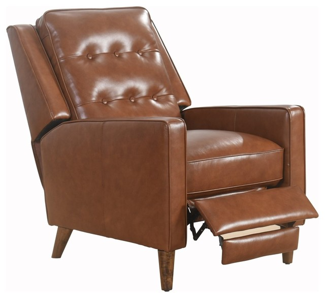 Abbyson Living Natalee Mid-Century Leather Seating, Recliner
