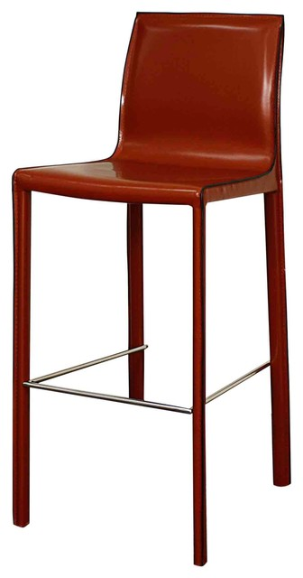 Gervin Recycled Leather Barstool Cordovan Set Of 2 By