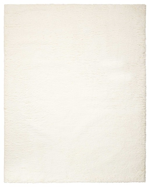 Nourison 5&x27;x7&x27; Galway Ivory Shag Rectangle Area Rug.