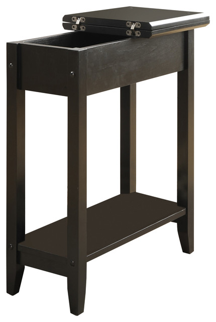 Gerner Flip-Top End Table, Black. -1