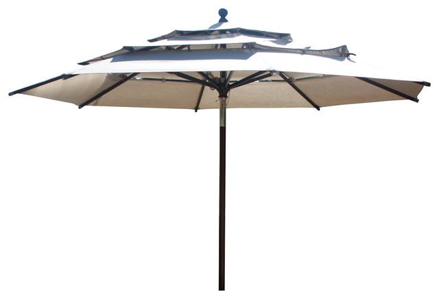 11u0027 Round Market Umbrella, Aluminium Pole Contemporary Outdoor Umbrellas