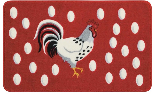 """Accent Decor Rooster Accent Rug, Multicolor, 1&x27;6""""x2&x27;6""""."""