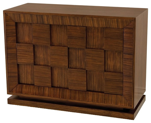 Double Block Contemporary Zebra Wood Decorative Cabinet Transitional Accent Chests And Cabinets By Innovations Designer Home Decor Furniture