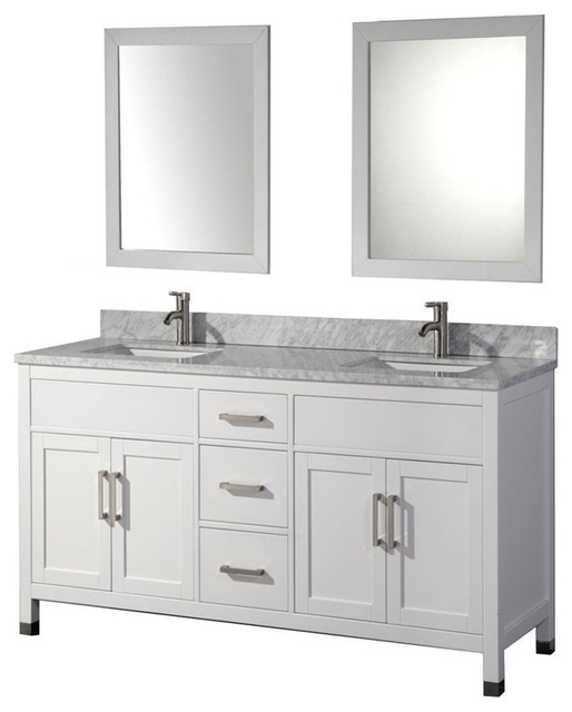 "Ricca 84"" Double Sink Vanity Set, White."
