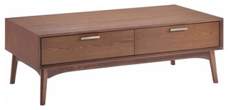 Design District Coffee Table, Walnut
