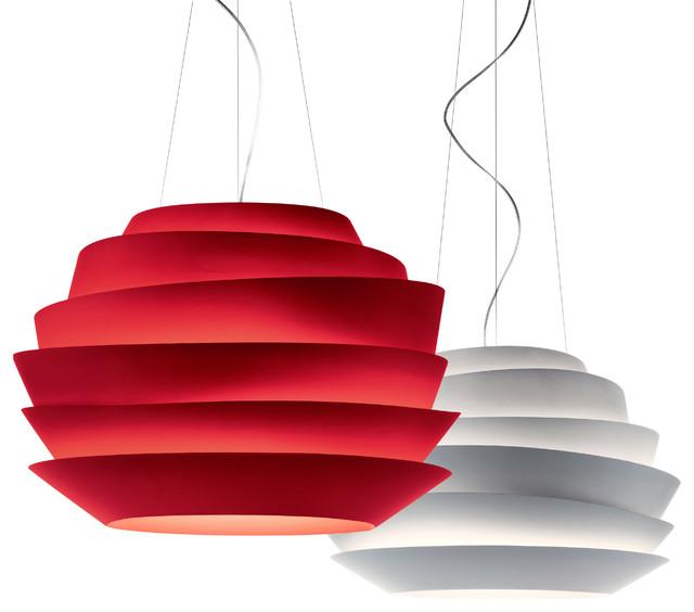 foscarini le soleil sospensione rosso pendelleuchte. Black Bedroom Furniture Sets. Home Design Ideas