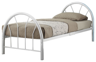Silhouette Bed, White, Twin