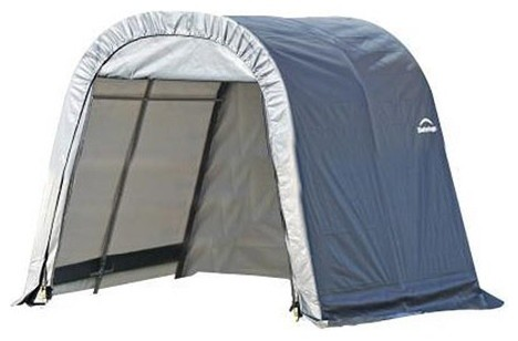11x8x10 Round Style Shelter With Gray Cover.