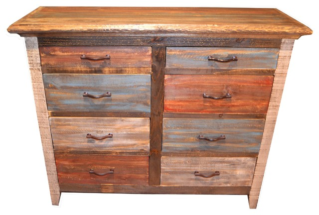 reclaimed wood 8drawer dresser