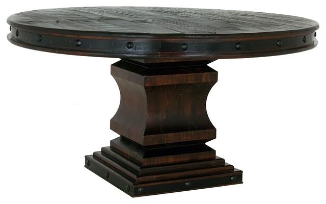 Small Round Rustic Side Tables: BurlesonHomeFurnishings Old World Rustic Gran Hacienda