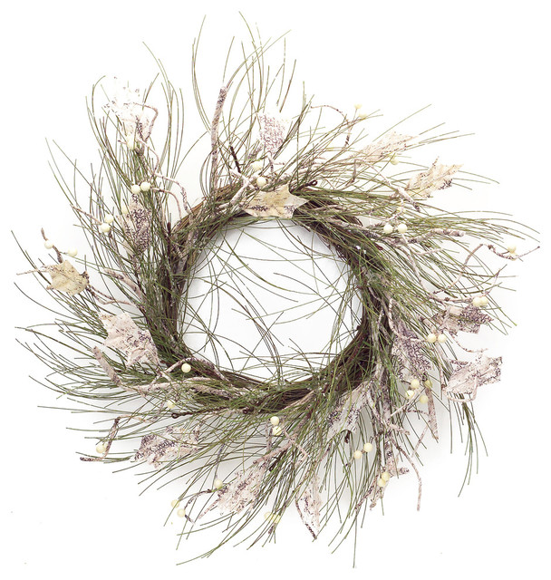 Long Needle Pine And Birch Wreath.