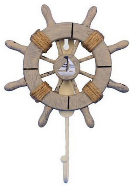 Rustic Decorative Ship Wheel With