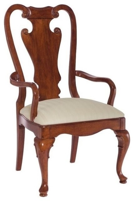 American Drew Cherry Grove Splat Back Dining Chairs, Antique Cherry, Set Of 2.