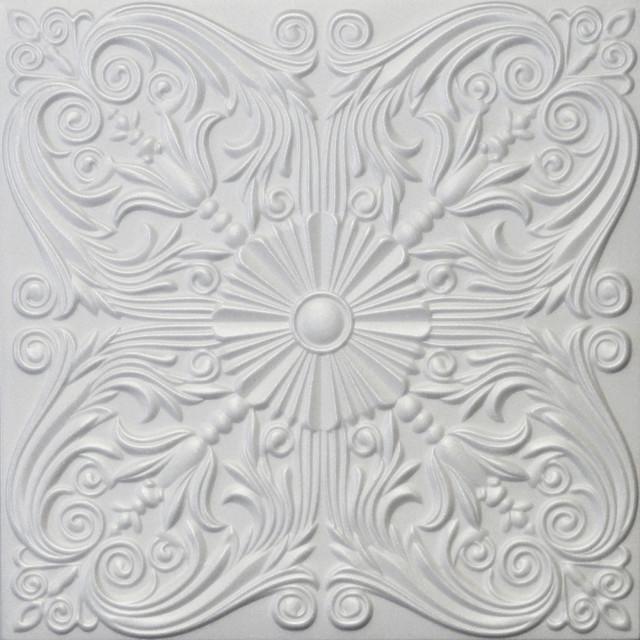 20x20 styrofoam glue up ceiling tiles r39w plain white - Glue Up Ceiling Tiles