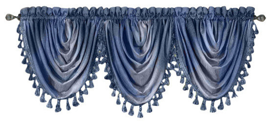 Ombre Waterfall Valance Traditional Valances By