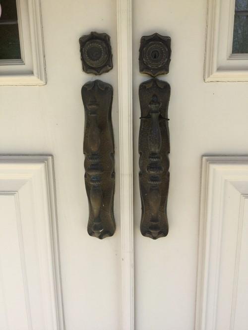 How refinish or paint entry door handles