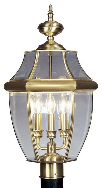 Antique Brass Post Light