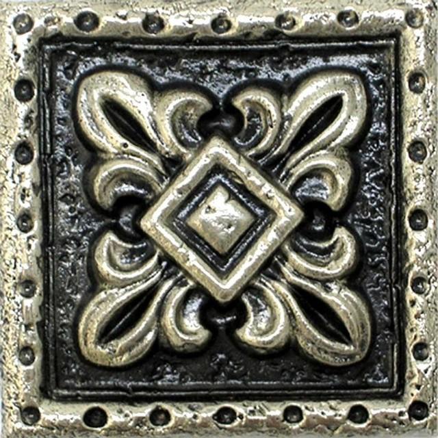 Fleur De Lis Tile 1 Set Of 12 Silver