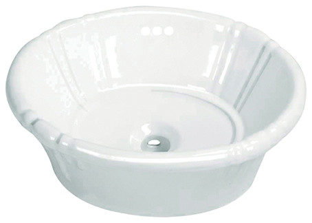 Fauceture Vintage Vitreous China Single Bowl Lavatory Sink, White.
