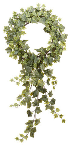 Silk Plants Direct Ivy Wreath, Set Of 2.