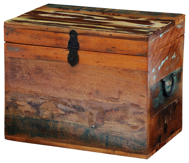 Vidaxl Reclaimed Solid Wood Storage Box.